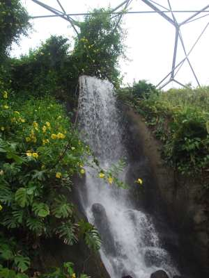 Eden project dome - the waterfall