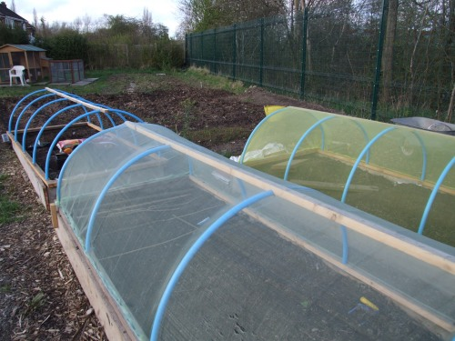 Net covered hoops