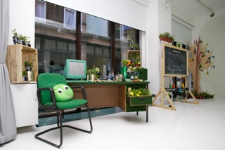 Give peas a chance office installation 2016