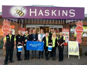 Snowhill's Haskins Garden Centre nominates Alzheimer's Society as its Charity of the Year